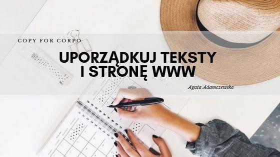 copywriter tekst na stronę internetową