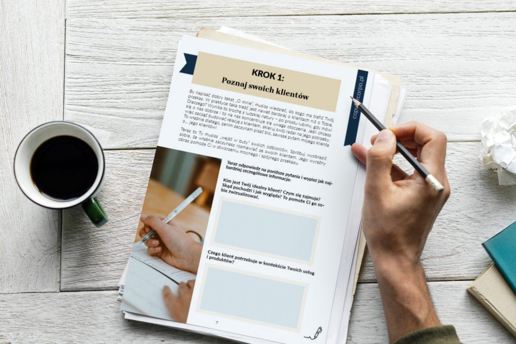 workbook i szablony tekstu o mnie